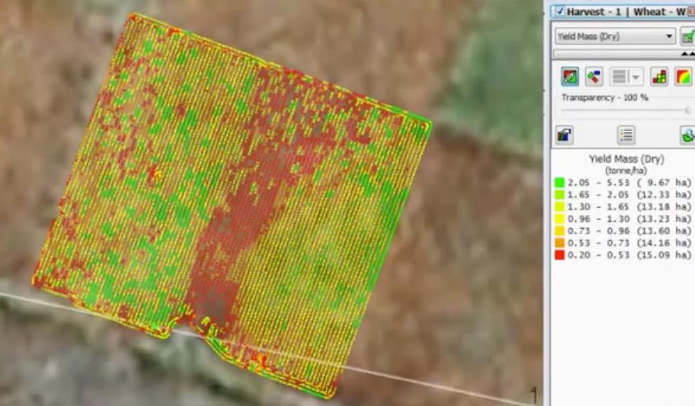 Field Map before harvesting
